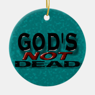 """""""God's not dead"""" Double-Sided Ceramic Round Christmas Ornament"""
