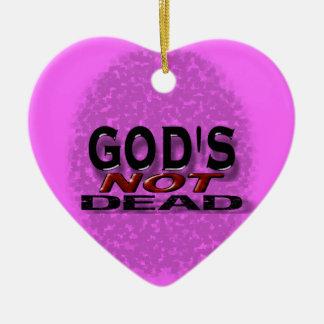 """God's not dead"" Double-Sided Heart Ceramic Christmas Ornament"