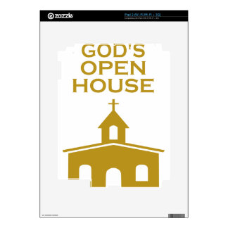 God's Open House Decal For The iPad 2