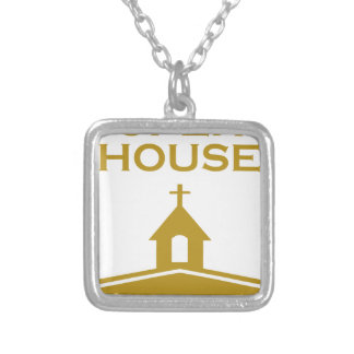 God's Open House Silver Plated Necklace