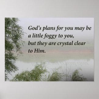 God's Plan in the Fog Poster
