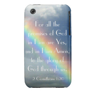God's Promises bible verse iPhone 3G cover iPhone 3 Case