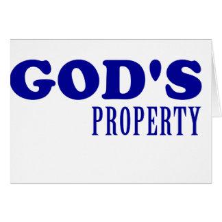 God's Property Card