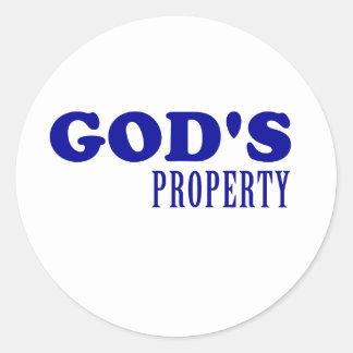 God's Property Classic Round Sticker
