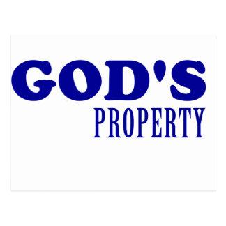 God's Property Postcard
