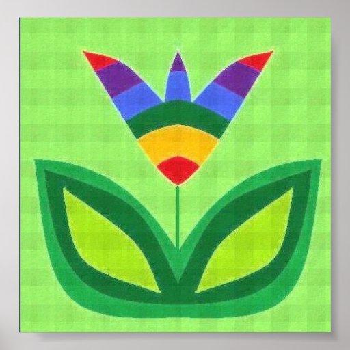 God's Rainbow Garden Poster