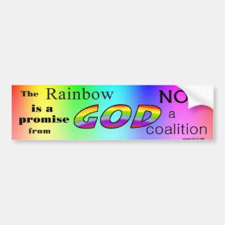 God's Rainbow Promise Bumper Sticker