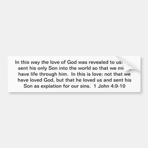 God's Revealed Love Bumper Sticker