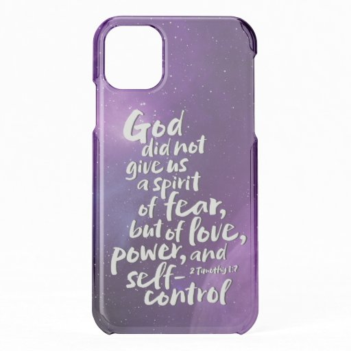 GOD's Spirit of Love - NO FEAR - Purple Space iPhone 11 Case