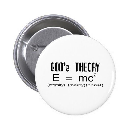 Gods Theory 2 Inch Round Button