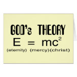 Gods Theory Christian card