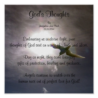 God's Thoughts Poetry Poster