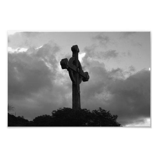 God's View (B&W Cross) Photo Print