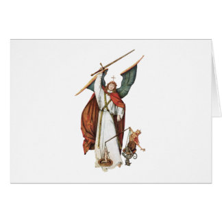 God's Warrior Angle Battle of Good and Evil Card
