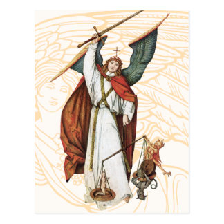 God's Warrior Angle Battle of Good and Evil Postcard