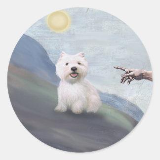 God's Westie (#2) Classic Round Sticker
