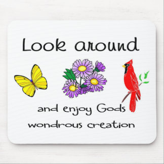 God's wondrous creation mouse pad