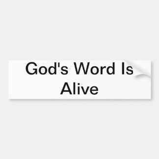 God's Word Bumper Sticker