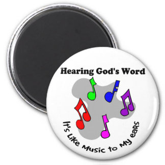 God's word is like music 2 inch round magnet