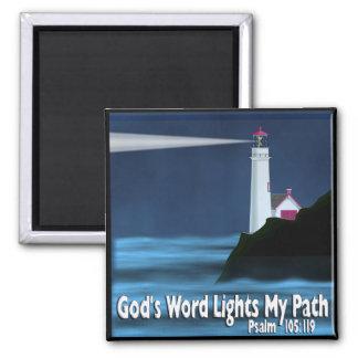 God's Word Lights My Path - Psalm 119:105 - Magnet