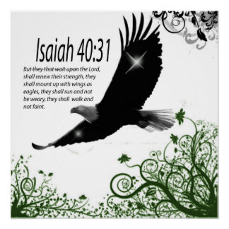 Gods Word -  Poster-Isaiah 40:31 Poster