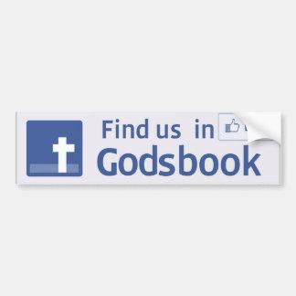 GodsBook, pegatinas para el parachoques, la tienda Pegatina Para Auto