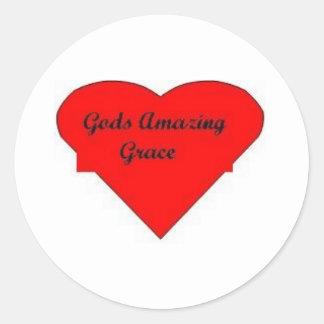 godsgrace classic round sticker