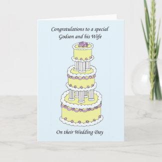 Godson and wife wedding congratulations card
