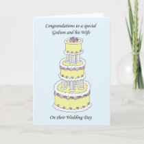 Godson and Wife Wedding Congratulations Card