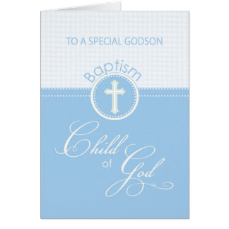 Godson Baptism Congratulations Blue Child of God Card