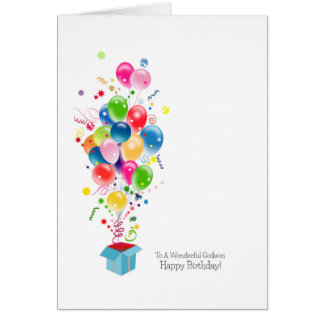Godson Birthday Cards, Colorful Balloons Greeting Card