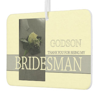Godson Bridesman thank you Air Freshener