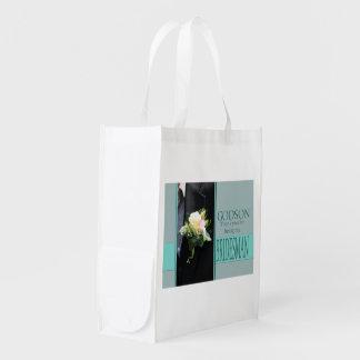 Godson Bridesman thank you Grocery Bag