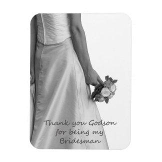 Godson Bridesman thank you Rectangular Photo Magnet