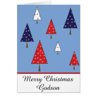 Godson Christmas greeting card