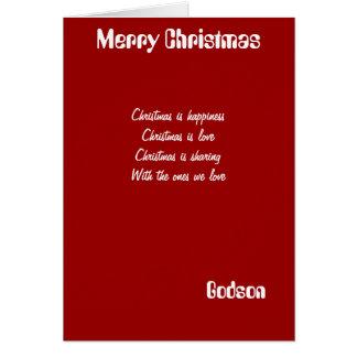 godson Christmas greeting cards