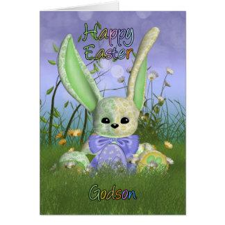 Godson Easter Bunny Spring Greeting Card