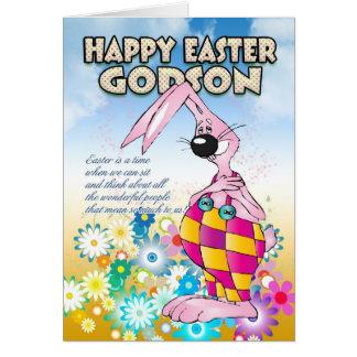 Godson gifts on zazzle godson easter card easter bunny flowers negle Images