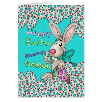 Godson easter card easter bunny flowers zazzle negle Images