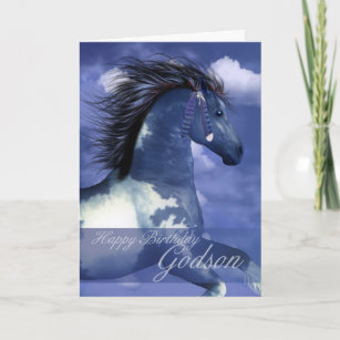 North american indian cards zazzle godson equine birthday card north american indian m4hsunfo
