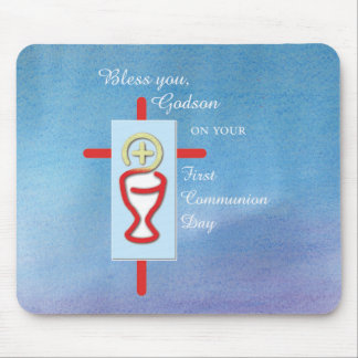 Godson, First Holy Communion, Blue Mouse Pad