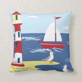 Godson Gift Communion Baptism Nautical Adventure Throw Pillow