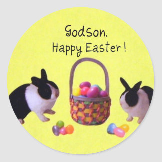 Godson, Happy Easter! Classic Round Sticker