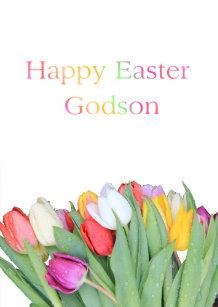 Godson easter gifts on zazzle godson happy easter holiday card negle Gallery