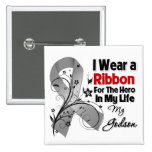 Godson Hero in My Life Brain Cancer Buttons