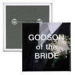 Godson Of The Bride Button