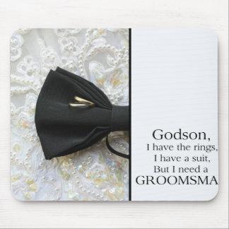 Godson Please be my Groomsman - invitation Mouse Pad