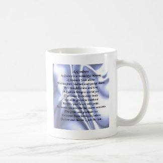 Godson poem - Blue Silk Design Basic White Mug