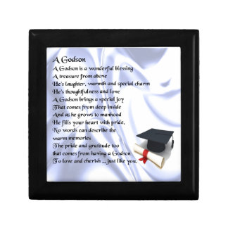 Godson poem - Graduation design Jewelry Box