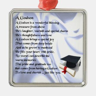 Godson poem - Graduation design Metal Ornament